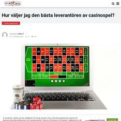 Bästa leverantörerna av casinospel