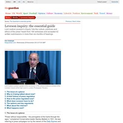 Leveson inquiry: the essential guide