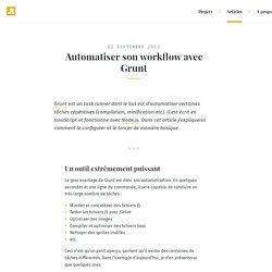 Ronan Levesque – Automatiser son workflow avec Grunt