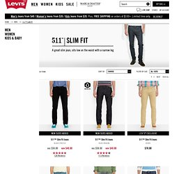 511 Skinny Jeans - Men's Skinny Pants, Black Skinny Jeans, Skinny Jeans for Guys and more from Levi's
