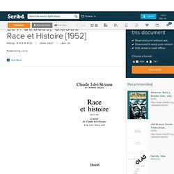Lévi-Strauss, Claude - Race et Histoire [1952]