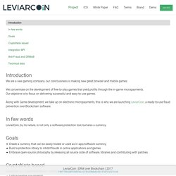 LeviarCoin ~ An anonymous, secure and private cryptocurrency
