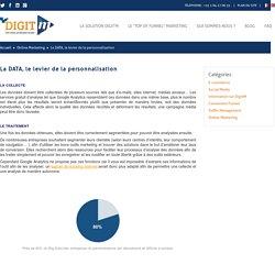 La DATA, le levier de la personnalisation - DIGIT'M