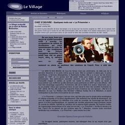 LeVillage - CHEF D'OEUVRE - Quelques mots sur « Le Prisonnier »