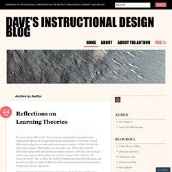 Dave's Instructional Design Blog