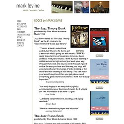 Mark Levine .. pianist, educator, author