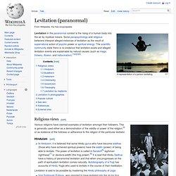 Levitation (paranormal)