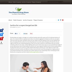 Levitra for a supercharged sex life