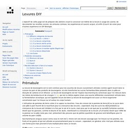Levures DIY - Breizh-Entropy