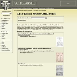 Levy Sheet Music Collection