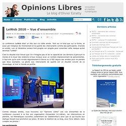 LeWeb 2010 - Vue d'ensemble