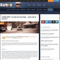 LeWeb 2010 – Le web sous la neige… mais avec le sourire !