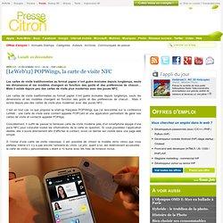 [LeWeb'12] POPWings, la carte de visite NFC