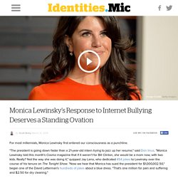 "Monica Lewinsky's Brilliant TED Talk Takes On the Internet's ""Culture of Humiliation"""