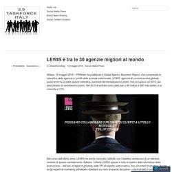 LEWIS è tra le 30 agenzie migliori al mondo