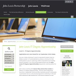 John Lewis IT Degree Apprenticeship