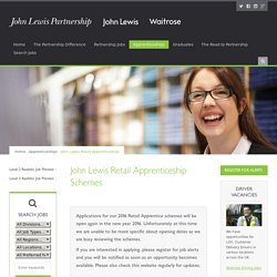 John Lewis Retail Apprenticeship