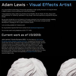 Adam Lewis - Visual Effects Artist