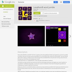 Lexathon® word jumble