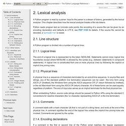 2. Analyse lexicale — documentation Python 3.6.3