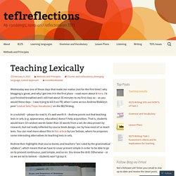 Teaching Lexically