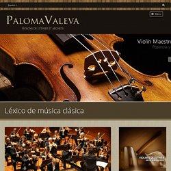 Léxico de música clásica - Paloma Valeva