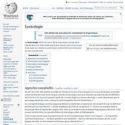 Lexicologie