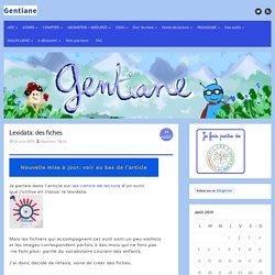 Lexidata: des fiches – Gentiane