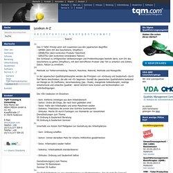 Lexikon A-Z — TQM - Total Quality Management