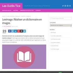 Leximage. Réaliser un dictionnaire en images