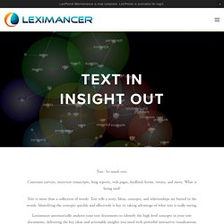 Leximancer: From Words to Meaning to Insight | home