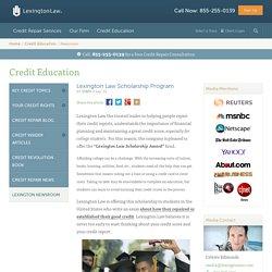 Lexington Law Scholarship Program