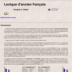 Lexique de l'ancien français