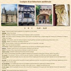 Lexique d'architecture médiévale 1