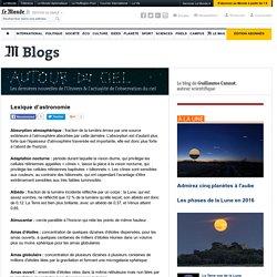 Lexique d'astronomie, par Guillaume Cannat