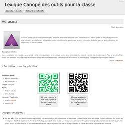 Lexique Canopé des outils pour la classe - Aurasma