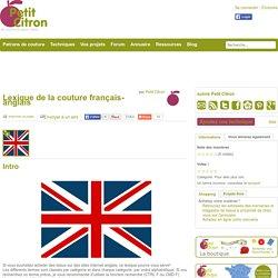 Lexique de la couture français-anglais