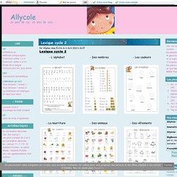 Lexique cycle 2 - Allycole