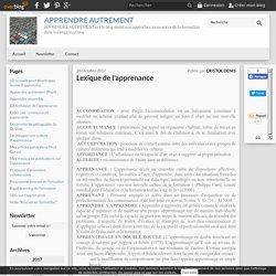 Lexique de l'apprenance