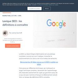 Lexique SEO : les définitions à connaître