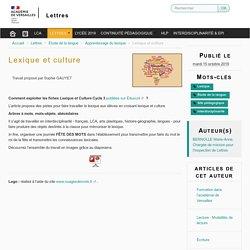 Lexique et culture