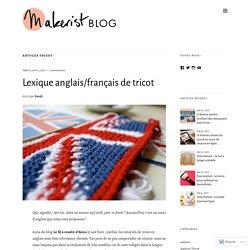 Lexique anglais/français de tricot