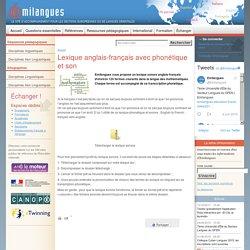 Lexique anglais-français avec phonétique et son