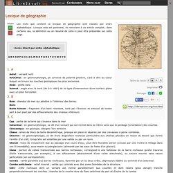 Lexique de géographie