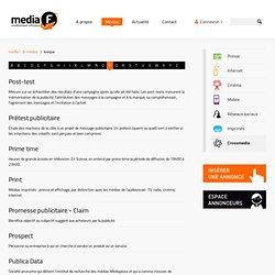 Lexique / Médias - media f - la nouvelle régie média fribourgeoise