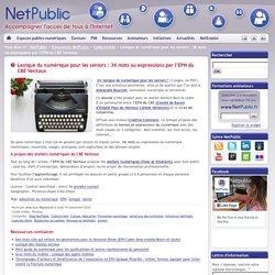Lexique du numérique pour les seniors : 36 mots ou expressions par l'EPN du CBE Ventoux