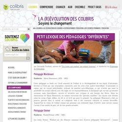 """Petit Lexique des pédagogies """"différentes"""""""
