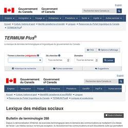 Lexique des médias sociaux - Français//Anglais