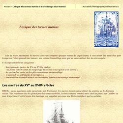 Lexique des termes Marins et Archéologie sous-marine