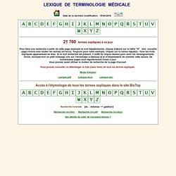 Lexique de terminologie médicale